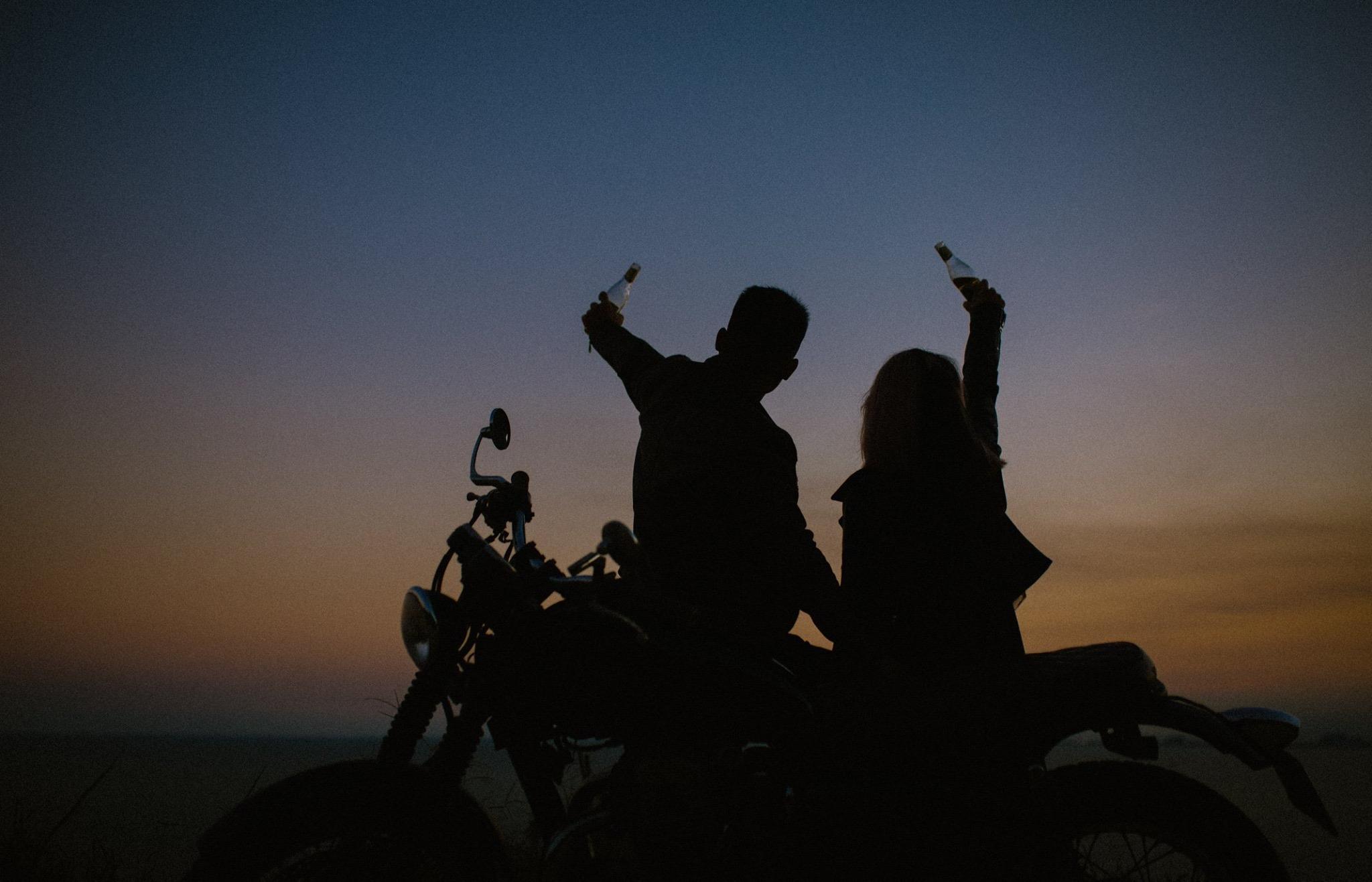 Hành trình tới Đà Nẵng của cặp đôi Biker