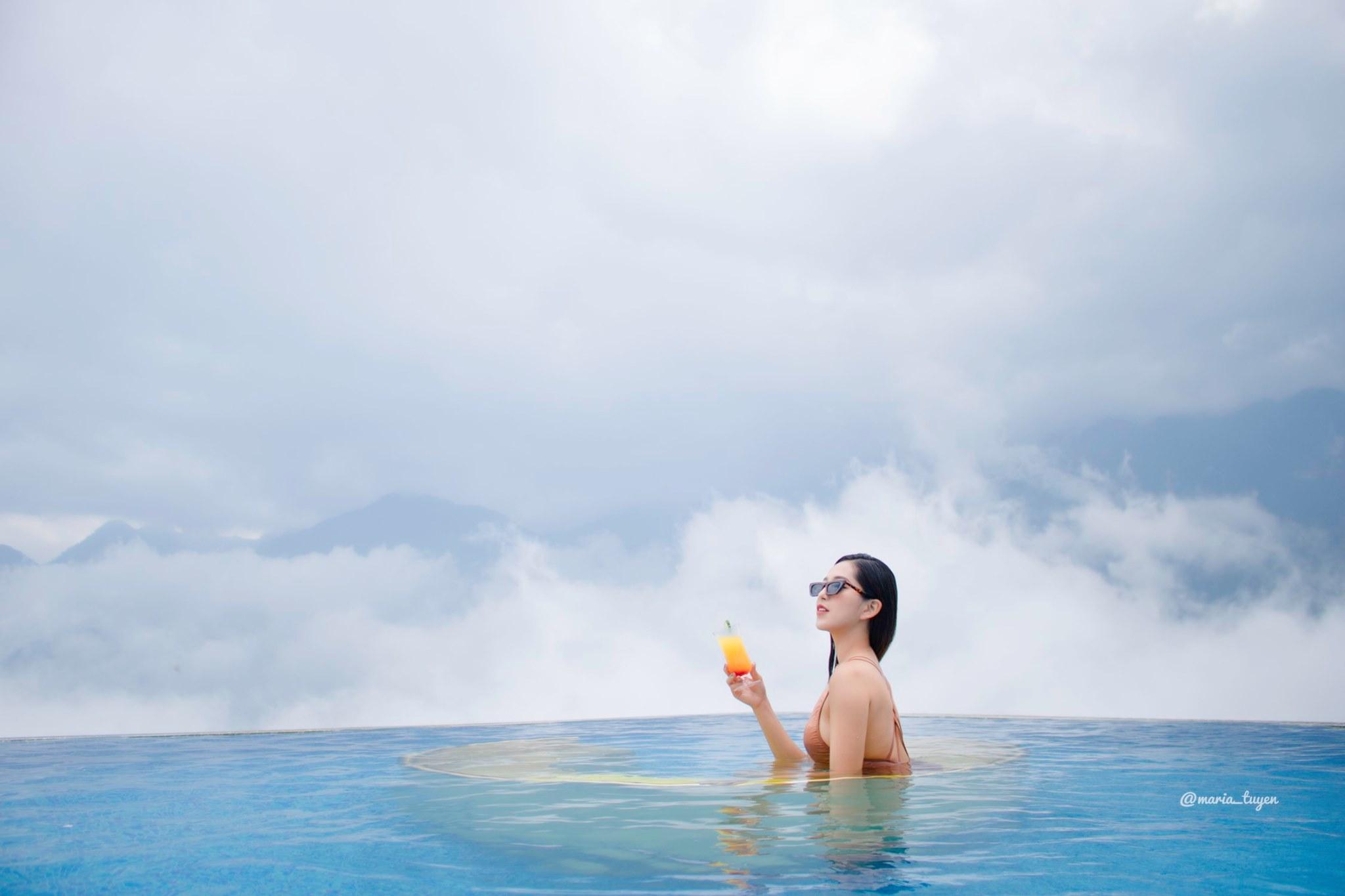 """☘[Ở Đâu?] Hotel Pistachio – Trải nghiệm bể bơi Vô Cực """"Dát Vàng"""" đầu tiên tại Sapa.☘"""
