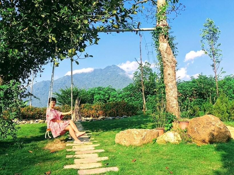 Bavi Padme Home: Đắm mình tại hồ bơi homestay trong mát, view ngắm núi Ba Vì bát ngát xanh