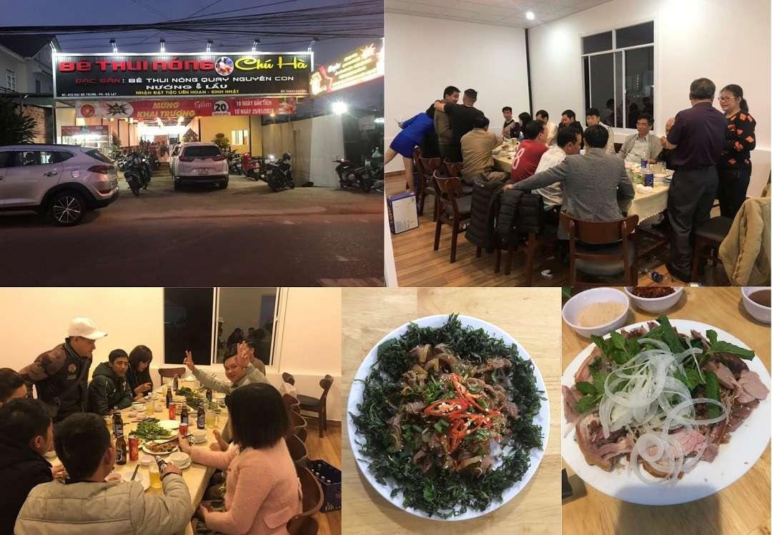 Quán Bê thui nóng Chú Hà -quán nhậu ngon ở Đà Lạt