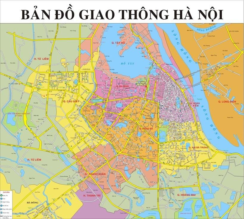 Bản đồ Hà Nội: Bản đồ các quận huyện ở Hà Nội mới nhất - Update 2019
