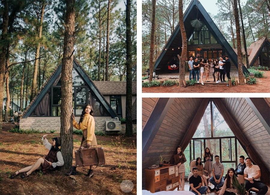 """La Pineta – villa """"tam giác"""" lọt thỏm giữa rừng thông ở ngoại ô Hà Nội"""