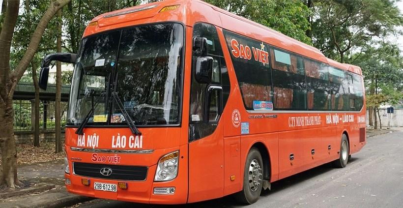 Nhà xe Sao Việt đi Hà Nội Lào Cai: giường nằm 40 chỗ, limousine 9 chỗ