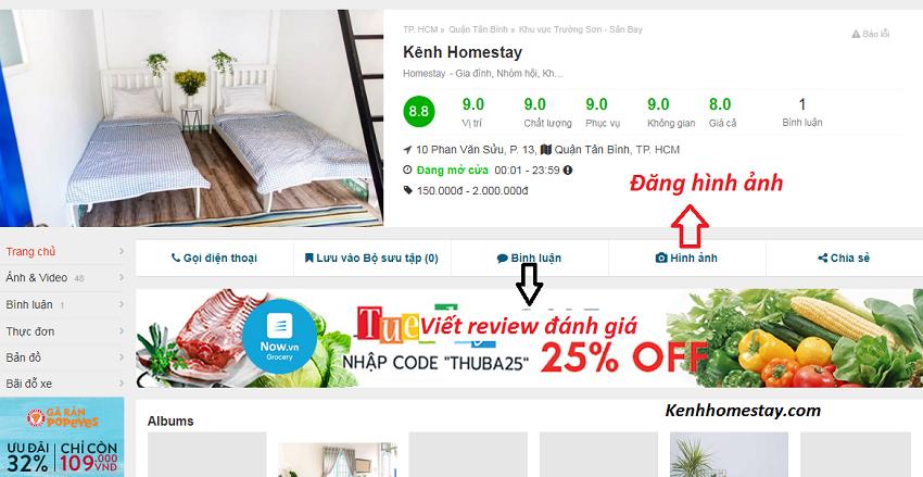 Hướng dẫn đăng ký địa điểm khách sạn, nhà nghỉ, homestay trên Foody.vn