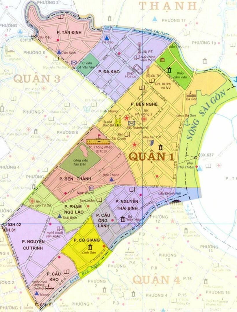 Bản đồ Sài Gòn: Bản đồ các quận huyện ở Hồ Chí Minh [update mới]
